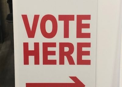 voter here sign